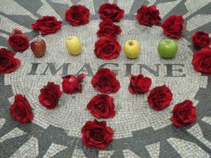 Imagine photo of memorial to John Lenon, Central Park, New York