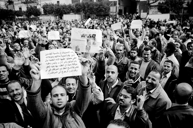 Egyptian trade unions have called for demonstrations on the anniversary of Mubarak's overthrow